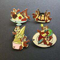 WDW Cast Lanyard Collection 4 - Chip & Dale w/ Food - 4 Pin Set Disney Pin 43370