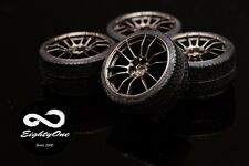 """Factory81 RM006 1/24 19"""" Rays 57Motorsport set (4 Wheels with Tyres)"""
