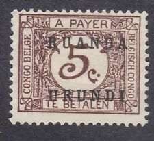 Ruanda Urundi 1924 Postage Due - 5c Brown - SG D55 - Mint Hinged (D24A)