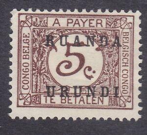 Ruanda Urundi 1924 Postage Due - 5c Brown - SG D55 - Mint Hinged (D24A)
