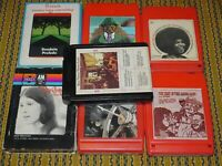 Classic Rock 8 Track Tapes Lot Of 7 Flack James Gang 2001 Space Odyssey ++