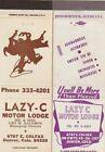 Lazy+C+Motor+Lodge+2+Matchcovers+Denver+Colorado