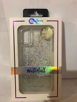 Case-Mate - Waterfall Cell Phone Case - For Apple iPhone X - Clear Glitter Case