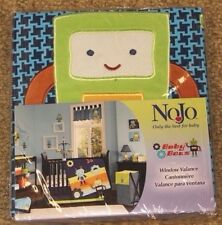 NoJo ~ BABY BOTS Robot Space ~ Window Nursery Valance ~ Blue Plaid ~ Boy  NEW