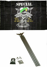 3x5 Special Forces Mess With The Best #2 Flag w 6' Ft Aluminum Flagpole Kit