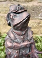 Toad Frog Garden Statue Ornament Riverbank collection Bronze Finish.Black Friday