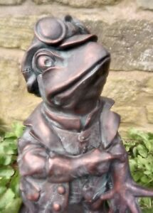 Toad Frog Garden Statue Ornament Riverbank collection Bronze Finish