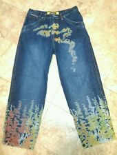 MEN'S W 36 L 33 OUTKAST CLOTHING COMPANY BLUE DENIM JEANS WILD COLOR ACID WASH!