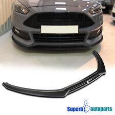 For 2015-2018 Ford Focus Glossy Black Front Lip Lower Spolier Splitter 3Pc Set