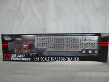 DCP 1/64 VERNLA PETERBILT TRIAXLE LIVESTOCK CATTLE POT TRAILER SEMI TRUCK RARE!!