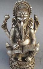 Collection de tibétain en argent du dieu hindou éléphant statue