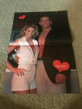 Vintage WWF SHAWN MICHAELS & SUNNY Centerfold Poster 1996 WWE 1990s ECW DIVA HBK