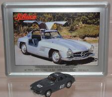 Schuco Modell 1:87 Mercedes-Benz 300 SL Flügeltürer dunkelgrau Schild Emaille