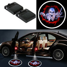 2x Wireless Car Door Led Welcome Laser Projector Logo Ghost Shadow Light Skull