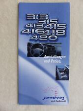 Proton Programm Prospekt Brochure 09.1996 Preise & Ausstattungen