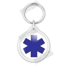 Porte-Clés Plastique Croix Vie Santé Ambulance Paramedic Caducée Ambulancier