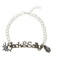Disney The Nightmare Before Christmas Jack & Sally Name Plate Charms Bracelet