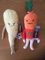 KATIE THE CARROT & WICKED PARSNIP PLUSH TOYS NEW WITH TAGS ALDI CHRISTMAS 2018