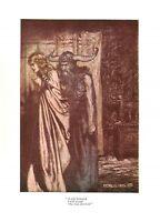 Wagner print.Arthur Rackham.1939.Opera print.Fantasy.Antique.Beauty.Bargain