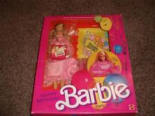 Vintage Barbie Happy Birthday Doll 9519 NRFB 1984 Card Gift Set Mint Napkin Cup