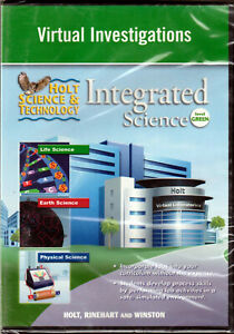HOLT SCIENCE & TECHNOLOGY Virtual INVESTIGATIONS CD-ROM Life EARTH Physical LABS