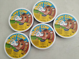 """""""HAPPY COW CHEESE"""" Round Box 8 Portion 120g x 5"""