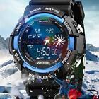Waterproof Digital Sports Military Army Mens Fashion LED Date Alarm Wrist Watch