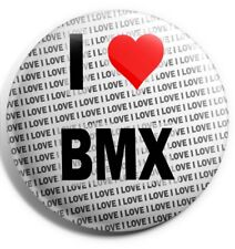 I Love Bmx Épinglette 7.6cm 75mm - Cadeau - Anniversaire - Petits Cadeaux