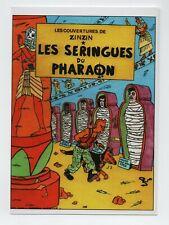 Carte Postale PASTICHE Tintin par JO HELL. Les seringues du Pharaon - 2008