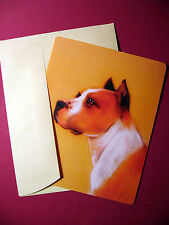 """American Pit Bull Terrier"" Single Dog Greeting Card - Blank Note Card - sku# 36"