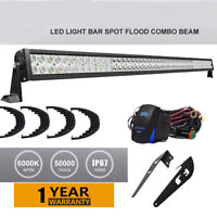 "300W 52"" LED Light Bar w/upper roof Mount Bracket, Wiring For Toyota  FJ Cruiser"