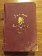 Group of Connecticut State Register & Manuals 1892 1904 1906 1910