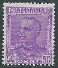 1928 REGNO EFFIGIE 50 CENT VIOLETTO LILLA MNH ** - I55