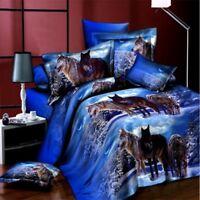 Duvet Cover Sets 3D Print Bedding sets wolf duvet covers with pillow cases 4pcs