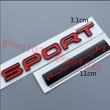 NEW LAND ROVER RED SPORT RANGE ROVER AUTOBIOGRAPHY BADGE REAR BOOT BADGE RE