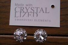 Genuine Swarovski Elements 13mm Clear Crystal Stud Earrings Gift Bag