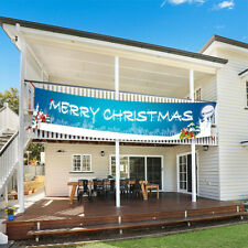 Merry Christmas Outdoor Banner Wall Hanging Zuhause Ornaments