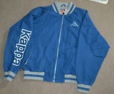 Vtg Kappa Full Zip Lined Bomber Jacket Large Blue Mens