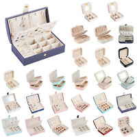 Portable Jewelry Storage Box Ring Earrings Bracelet Necklace Case Organizer Tool