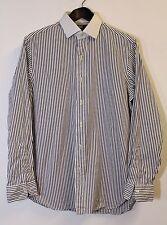Ralph Lauren Polo Camisa De Rayas Talla 15.5, Manga Larga, Algodón, en muy buena condición, Regent Ajuste