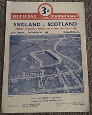 More details for england v scotland 1950/51 rugby union international at twickenham