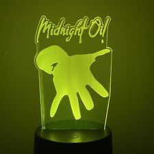 MIDNIGHT OIL AUSSIE BAND MUSIC 3D Acrylic LED 7 Colour Night Light Touch Lamp