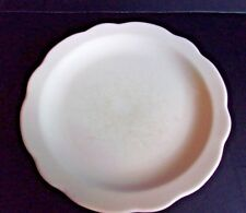 "Buffalo China White Scalloped Edge Restaurant Ware Dessert Plate 6 1/2"" W"