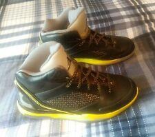 Nike Air Jordan Flight Remix Mens 679680-070 Black Vibrant Yellow Shoes Size 10