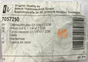 Bosch Thermotechnik GmbH Überwurfmutter G1 1/4X17 D36