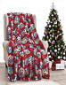 "NEW Ultra Cozy & Soft Christmas Holiday Owl Plush Warm Throw Blanket 50"" x 60"""