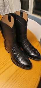 Tecovas Townes Alligator Boots Size 8 EE