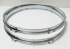 """NEW Replacement 2.3mm 13"""" TOM DRUM HOOPS / RIMS For Ludwig/Pearl/DW/Etc (6-Hole)"""
