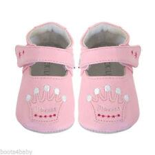 JACK & LILY bébé filles cuir MON BATEAU ROSE DESIGN PRINCESSE 0-6 mois - Neuf
