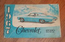 1967 CHEVROLET PASSENGER CAR OWNER'S MANUAL, CHEVY